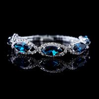 New Arrival 2014 Wedding Bracelet For Women 18K Gold/Silver Plated Chain Full Crystal Bracelet Bracelets & Bangles Jewelry