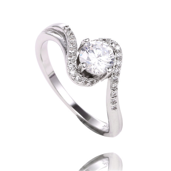 Free Shipping 1 PC 925 Sterling Sliver white cubic Zirconia Stone woman jewelry lady wedding party ring size 7(China (Mainland))