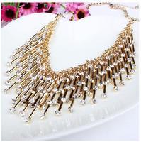 Europe and America top brand jewelry 2014 women Bohemia  luxury tassel elegant rhinestone pendant&necklace