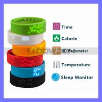 5 in 1 Unisex Digital LED Smart Sport Bracelet Wristwatch 3D Calorie Pedometer USB Sports Watch