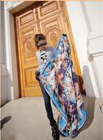 The new blue classic myth Korean lady scarf silk sunscreen shawl Energy-saving: the myth of Aima with the scarf scarf scarf