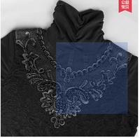 Basic shirt female autumn and winter thick turtleneck lace basic shirt plus velvet thickening