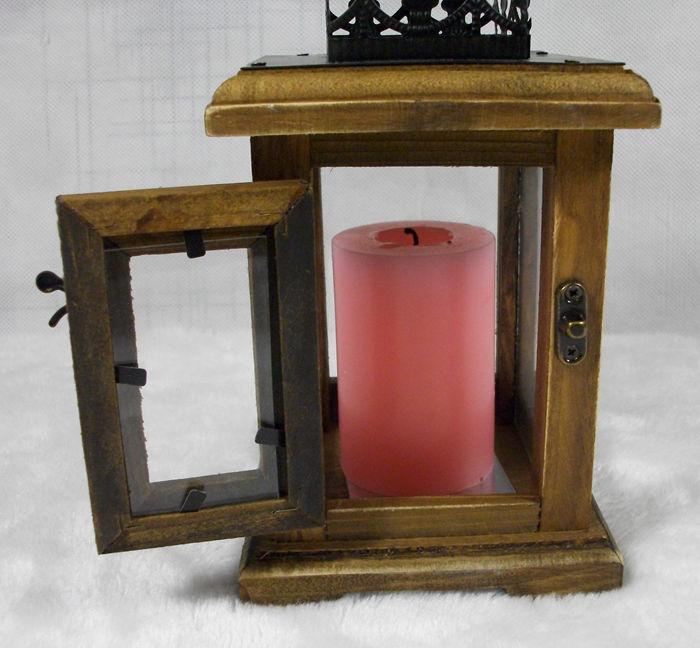 New style vintage wooden house shape candlestick Mediterranean wedding lantern vintage candle holders Iron candleholder(China (Mainland))