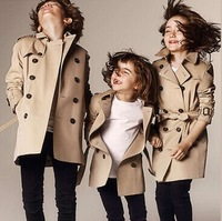 2014 news boys and Girls clothing kids trench clothes kids winter coat children coat baby clothing trench coat