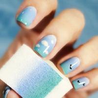 Hot Sale Nail Art DIY Sponge Creative Nail Art Tools Gradient Color Decoration1Pack=8pcs Free Shipping