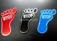 FOOT Aluminum Badge Emblem Decal Sticker, free shipping global