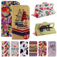 New Luxury Cartoon Flag Print Wallet Card Holder Flip Case For LG Google NEXUS 5 E980 D820 D821 Stand PU Leather Phone Cover Bag