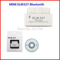 20pcs/lot  Free Shipping MINI ELM327 Bluetooth OBD2 V1.5 B Software V2.1 with Software