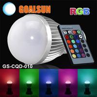 GS-CQD-010 Aluminum 230V 240V 110V 220V E27 5W RGB led bulb lamp Color change 5 watt Led lights for home decotation