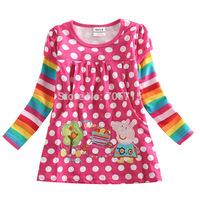 Free shipping New Arrival Peppa Pig pure cotton girl dress,cartoon dress,fashion girls dress,5pcs/lot wholesale