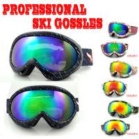 New Children Skiing Snow Sled Goggles 100% UV400 Kids Ski goggles Glasses Eyewear Free Shipping