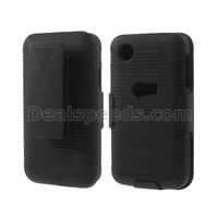 5PCS/LOT-FREE Shipping Horizontal Stripes w/ Belt Clip Holster Hard Case for LG L40 D160