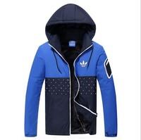 2014 new men's winter jacket male tide Korean Slim thin fashion coat