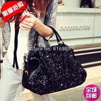 New arriving !Fashion fashion women's handbag 2014 paillette chain bag women's handbag messenger bag dumplings