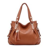 Women Bag Genuine Leather Bag Fashion Women Leather Shoulder Bags New Handbag Joker Crossbody Bag Tassel Messenger Bags Bolsas