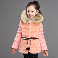 New 2014 winter girls baby clothes,children's warm Imitation fur coat Kids jacket coats for girl,free shipping FF532
