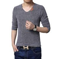 Casual T-shirt Men Long Sleeve V-neck T Shirt Men 2014 Spring Autumn New Fashion Tshirt  Plus size 6XL 5 COLORS 11.11 ON SALE