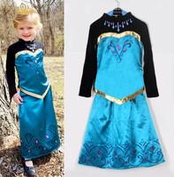 new 2014 Frozen girl Dress Girl Princess Dress autumn frozen long dress Costume,baby & kids autumn dresses