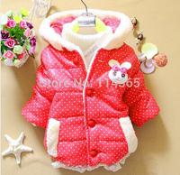 2014 New Winter Baby Clothes Panda Rabbit Baby Boys Baby Girls Outerwear Infant Cartoon Down Coat C02