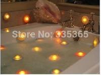 free shipping 50pcs X waterproof  floating LED bath light / RGB underwater led spa light