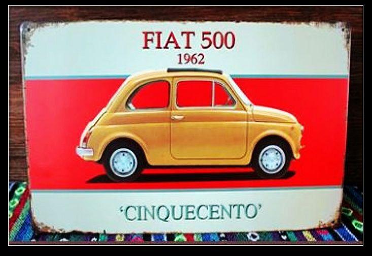 Fiat 500 voitures achetez des lots petit prix fiat 500 for Decoration murale fiat 500