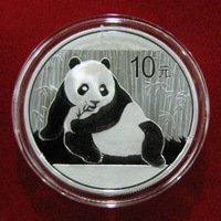 2015 panda silver coin 10 YUAN  1OZ  UNC and double Sealed with box and English certificate