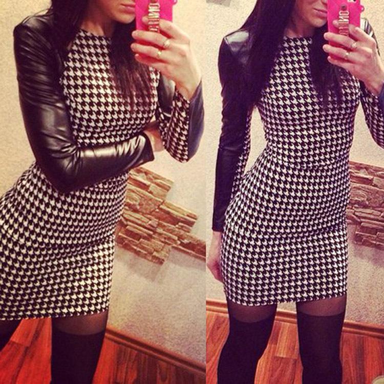 длиные платьи с кожаным рукавами фотоаппарат кратным