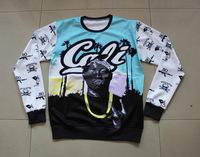 New Women/Men 3D 2PAC CALI CREWNECK Sweatshirts Something 2 Die 4 Sweats CALIFORNIA LOVE Hoodies Tupac Shakur Skull LA Sweaters