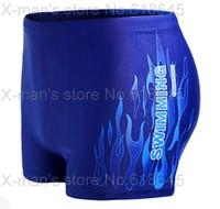 Professional Men's Swimming Trunks Flame Swim Shorts Men Big size Beach Wear hot springs spa L-167