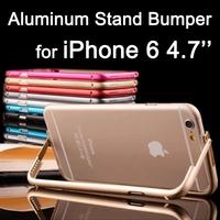 Newest Luxury Slim Aluminum Stand Bumper for iPhone 6 6G 4.7'' Bumper