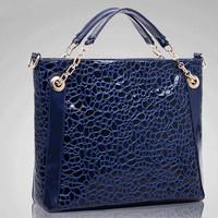 New Tide Aligator Pattern Bag Fashion Hollow Out Tote Women Handbag Hot PU Leather Shoulder Bag Elegant Messenger Bags Bolsas
