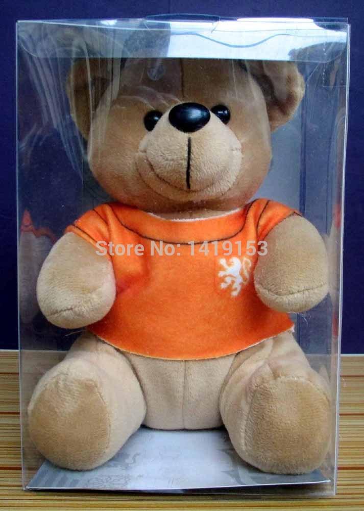 Netherlands Holland National Soccer Team Little Teddy Bear Soft Toy Plush Doll Orange(China (Mainland))