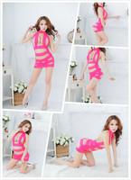 2015 Wholesale Sexy Lingerie Lace Bodysuits Three-Point Sexy Sleepwear Costumes Teddies Hollow Lace Sleepwear 1267