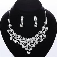 Free shipping! 2015 elegant ladies fancy pearl jewelry set, Trendy bridal jewelry set