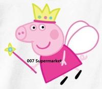 Peppa Pig Princess Crown birthday Iron On Heat Transfers Film TV MOVIE Cartoon Kids Girl BOY Patch Logo Badge Free Shipping