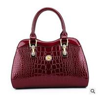 "The new 2015 patent leather crocodile grain quality single shoulder bag portable handbag Evening bag ""women messenger bags"