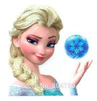 Frozen Princess Elsa Girls Snow Queen Iron On Transfers Film TV MOVIE Cartoon Patch Logo Badge Free Shipping
