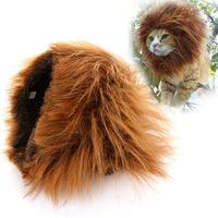 New Pet Costume Lion Wig For Cat Clothes Fancy Dress up With Ears #200508