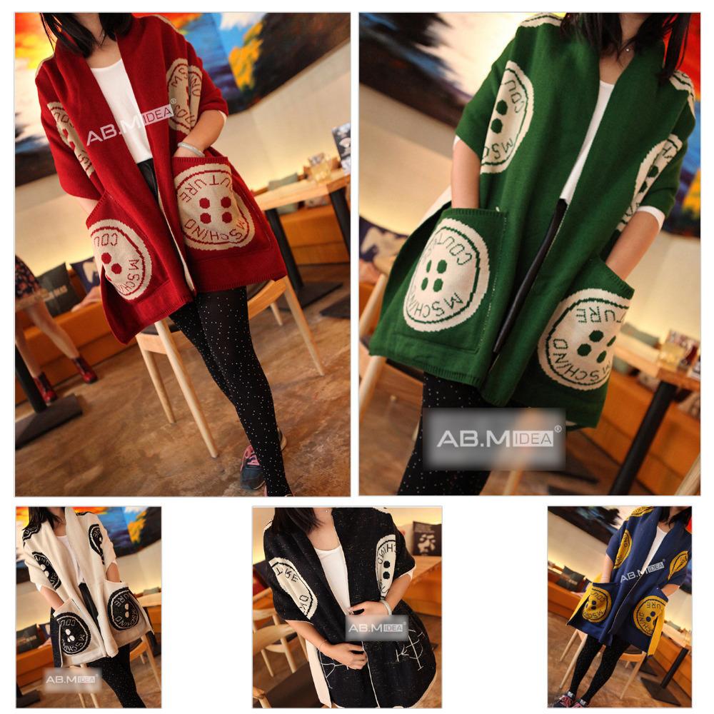 AB.M IDEA Woman Winter Bufandas Women Circular Pocket Double-sided Knitted Scarf WA674 46*195CM(China (Mainland))