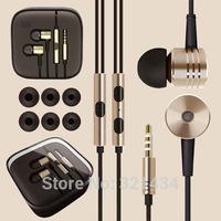 Xiaomi Metal 3.5mm Stereo Bass earphone headset headphone With Mic Volume for Phone iphone 4 4S 5 5S 6 Xiaomi Samsung HTC box  G