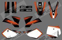 MONSTER  (orange & black) 0542 NEW STYLE GRAPHICS DECALS FOR KTM50 SX50 SX 50CC 50 2002 2003 2004 2005 2006 2007 2008