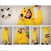 Pikachu Unisex Adult Flannel Pajamas Adults Cosplay Cartoon Cute Animal Onesies Sleepwear Suit Nightclothes Pikachu
