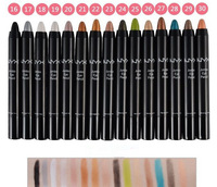 Wholesale 15pcs/lot Cosmetics Colorful Make up Famous Brand Jumbo Eye Pencil Makeup eye shadow pen Mineralize
