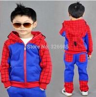 Spiderman Clothing set children sport sweatshirt spider-man costume suit boys hoodies pants kids hooded jacket spring clothes