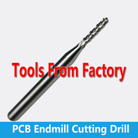 Free Shipping 6mm SHK 22 CEL Carbide PCB Engraving Tools Carbide End Milling Cutter  CNC Cutting Drill Hole Endmill