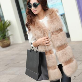 2015 новое поступление зимние женщин искусственного меха лисы жилет сращены мода женские жилеты KB394