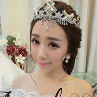 Free shipping 2014 Top fashion wedding hair jewelry Vintage clear crystal tiara bridal rhinestone hair accessories XB16