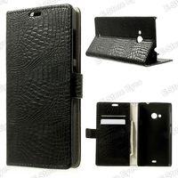 Free shipping 1pc/tvc-mall Crocodile Skin for Microsoft Lumia 535 / 535 Dual SIM Leather Magnetic Case w/ Stand