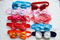 New Arrival 40pcs/Lot Ribon Dog Bowties Mix Styles For Holidays Adjustable Cute Dog Bow Tie Collar Dog Grooming Products