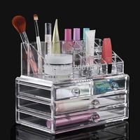 Free Shipping High Quality Cosmetics Storage Case Transparent Makeup Rack Jewelry Storage Box